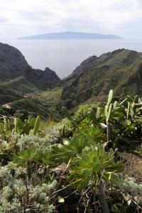 La Gomera sett från Tenohalvön, Teneriffa
