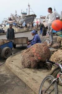Essaouira, Marocko, Fiskehamnen