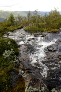 Fjällbäck, Telemark, Norge, Vattenfall