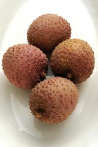 Litchi chinensis, litchifrukt, litchi